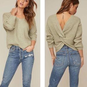 NWOT ASTR | Twist Back Knit Sweater XL